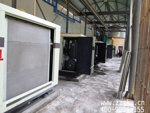 河南郑州牧风空压机安装现场